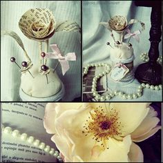 I made a pincushion - decoration with all my love for the vintage style