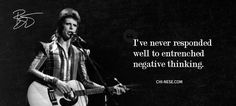 David Bowie, the famous English rock star, celebrated his sixty-ninth birthday on January and on that occasion we've created.David Bowie quotes that. David Bowie Quotes, Bowie Labyrinth, Ill Miss You, Negative Thinking, Ziggy Stardust, Blink 182, Beautiful Voice, Popular Music, David Jones
