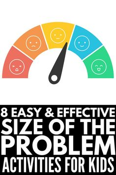 8 Size of the Problem Activities for Kids | Inspired by the Social Thinking and Zones of Regulation curriculums, these games and activities teach children to identify whether a problem is small, medium, or big, as well as what is and is not an appropriate reaction to each. With visual tools, posters for class bulletin boards, scenario cards, worksheets, coloring pages, Google slides, boom cards, and puzzles, this collection of activities has it all - even Size of the Problem BINGO! Zones Of Regulation, Emotional Regulation, Social Emotional Learning, Social Skills, Social Work, Autism Behavior Management, Classroom Management, Autism Activities, Activities For Kids