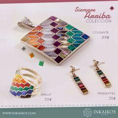 Inkaiko's - Joyas: SIEMPRE ARRIBA, colección llena de magia y color. ... Enamel Jewelry, Jewerly, My Style, Bracelets, Accessories, Places, Crafts, Clothes, Copper