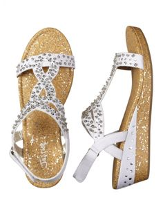 These Bejeweled Sandals from Justice have the slightest wedge, sure to make your Tween feel like a stylish grownup!