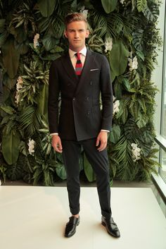 fitted double-breasted suit, Tommy Hilfiger Spring 2016 Menswear, New York Fashion Week: Mens // menswear style + fashion