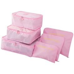 Packing Cubes for Luggage Travel Clothes Storage Bags, Organizer pouch. set (Pink), Bon Bonito Packing Cubes for Luggage Travel Clothes Storage Bags, Organizer pouch. Storage Bags For Clothes, Bag Storage, Clothing Storage, Storage Containers, Clothes Hanger, Women's Luggage & Travel Bags, Luggage Packing, Travel Packing, Luggage Suitcase