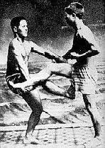 Miyagi sensei, founder of Goju-Ryu with Kyoda Juhatsu sensei, founder of To'on-Ryu