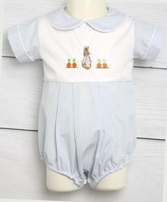 Bunny Romper for Baby Boy Easter Outfit, Peter Rabbit Outfit for Boy, Boys Easter Outfit, Boy Easter Outfit 293540