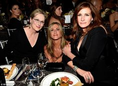 Strike a pose: Meryl Streep, Jennifer Aniston and Julia Roberts stop for a quick picture - 2015 SAG Awards