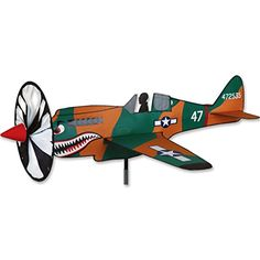 Wind Sculptures n Spinners  Airplane Spinner - P-40 Patio Makeover *** This is an Amazon Associate's Pin. Detailed information can be found from the website by clicking the image.