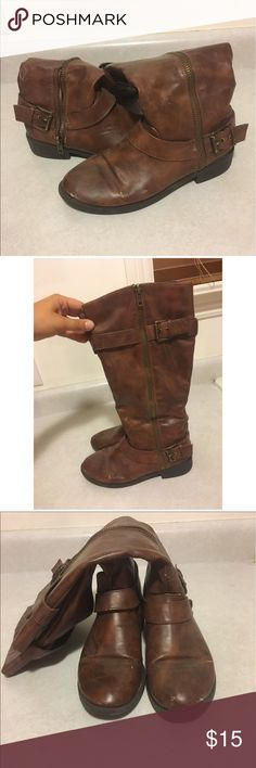Brown riding boots Brown riding boots Shoes Combat & Moto Boots
