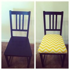 Ikea Chair Redo – Cyrs in the South Ikea Hack Chair, Ikea Dining Chair, Dining Chair Makeover, Chair Redo, Diy Chair, Kitchen Chairs, Furniture Makeover, Ikea Chairs, Eames Chairs