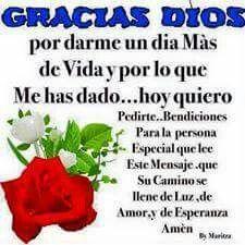 Gracias Dios por un nuevo dia