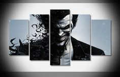 Style Your Home Today With This Amazing 5 Panel Framed Arkham Origins Joker Batman Wall Art Canvas For $114.00  Discover more canvas selection here http://www.octotreasures.com  If you want to create a customized canvas by printing your own pictures or photos, please contact us.