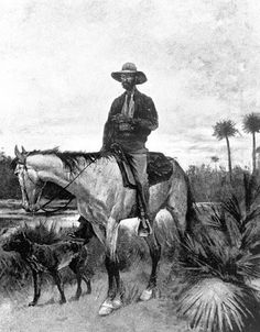 A Cracker cowboy by Frederic Remington - Reproduction Oil Painting (Florida cowboys were the American cowboys. Frederic Remington, Vintage Florida, Old Florida, Florida Style, Florida Cracker Horse, Christoph Kolumbus, Oil Painting Reproductions, Le Far West, Old West