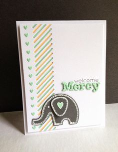 I'm in Haven: The Cutting Edge Challenge #11...A Card for Baby Mercy