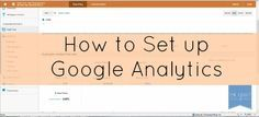 Blogger Tips: How to Setup Google Analytics  /search/?q=%23blogging&rs=hashtag /search/?q=%23analytics&rs=hashtag