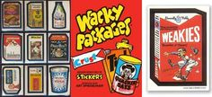 Wacky Pack Stickers - Loved to collect these!
