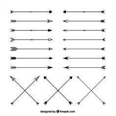 Variété de flèches Vecteur gratuit