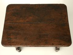 18th C Rustic French Oak Farmhouse Side/End/Writing Table w/Drawer image 3