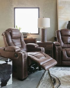 Microfiber Nailhead Trimmed 38 Recliner In Brown Recliners Trim