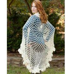 free irish crochet hooded cloak patterns for women | Flowing Angelic Shawl ~ free pattern ᛡ