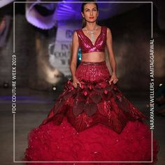 """Narayan Jewellers delightfully launched the new bridal collection in association with ace Designer Amit Aggarwal for """"Lumen"""" Couture 2019 at fdciofficial. Bridal Collection, Balloons, Fashion Show, Product Launch, Wonder Woman, Jewels, Couture, Jewellery, Formal Dresses"""