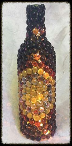 Infinity Lighted Wine Bottle Art http://www.suddenlyamberallthingsart.com/