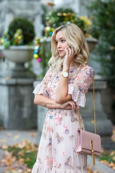 floral embroidery dress.
