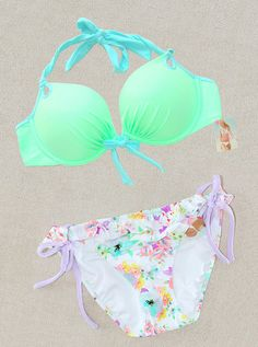 Victorias Secret Gorgeous Push Up Bikini Swimsuit. This is so pretty! Motivation to look good in this by summer!