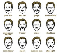 movember moustache styles by liebe.be2, via Flickr