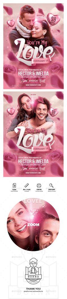#Romantic Valentine Poster - Events #Flyers