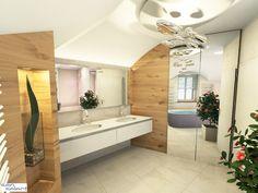 Bad in einem Dachgeschoß _1 _ 2016 Corner Bathtub, Bad, Bathroom Lighting, Mirror, Furniture, Home Decor, Attic Rooms, Projects, Bathroom Light Fittings