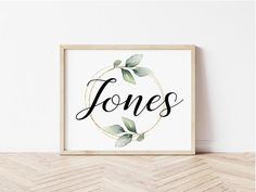 Personalized Printable Family Name Sign Family Name Print | Etsy Wedding Gifts For Groomsmen, Groomsman Gifts, Wedding Shower Gifts, Family Print, Family Name Signs, As You Like, Printing Services, Printable Wall Art, Collaboration