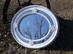 Shabby Chic Ornate Oval Wall Mirror by bellasattictreasures on Etsy. $174.00