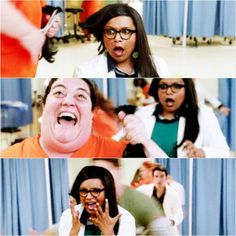 The mindy project .. this scene was hilarious