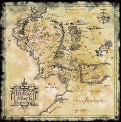 Map of Middle Earth (2400x2424) - Imgur