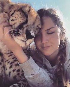 Wow Cheetah loves her ♥ ️❤️ - Katzen - Cute Animal Videos, Cute Animal Pictures, Cute Funny Animals, Cute Baby Animals, Cute Kittens, Cats And Kittens, Nature Animals, Animals And Pets, Beautiful Creatures
