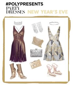 """""""New year's eve dresses #PolyPresents: Party Dresses"""" by mullemullr on Polyvore featuring Notte by Marchesa, Co.Ro, Jenny Packham, Chanel, Rimen & Co., Cynthia Rowley, Steve Madden, Giambattista Valli, contestentry and polyPresents"""