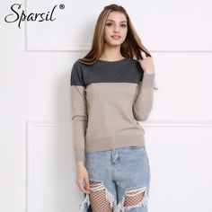 b8038002de3 Women Autumn Winter Cashmere Blend Sweater Patchwork Pullovers O-Neck  Knitted Soft Warm Pullover Female High Qaultiy