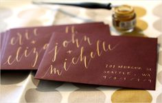Cool way to address envelopes. Flourish & Whim - Blog