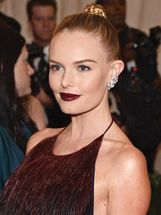 Kate Bosworth's plum lips. Photo by Getty Images