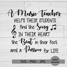 Music Teacher Svg Teacher Svg Teaching Svg Music Notes Svg   Etsy Teacher Appreciation Quotes, Teacher Quotes, Music Teacher Gifts, Music Teachers, Music Gifts, Teacher Retirement Parties, Music Bulletin Boards, Elementary Music, Music Classroom