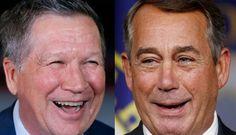 BIRDS OF A FEATHER ~ John Boehner endorses Kasich   Washington Examiner/traitor Rino Republican endorses kasich