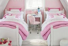 Catalina bed twin girl bedrooms, bedroom decor for teen girls, teen Preppy Bedroom, Home Decor Bedroom, Bedroom Furniture, Bedroom Ideas, Twin Girl Bedrooms, Girls Bedroom, Twin Girls, Girl Rooms, Girl Bedroom Designs