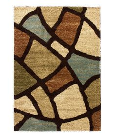Another great find on #zulily! Green Wavy Shapes Avenue Rug #zulilyfinds