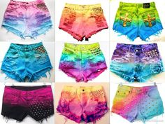 DIY | Tie Dye Shorts..... Need to do this!!!!