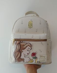 Loungefly Disney Beauty and the Beast Cute Mini Backpacks, Stylish Backpacks, Girl Backpacks, Disney Handbags, Disney Purse, Cute Purses, Purses And Bags, Mochila Nike, Cute Disney Outfits