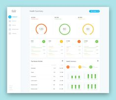 = 1 view concept ? Dashboard simple yet focused containers - visually light…