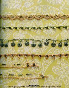 Crochet Cuentas Borde