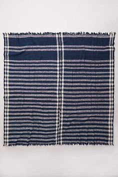 Lost & Found Striped Gingham Throw - anthropologie.com