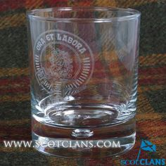 Ramsay clan Crest Whisky Glass