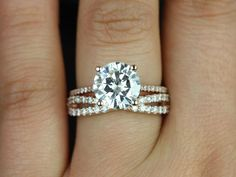 This engagement ring is designed for those love the classics! thin band engagement ring, infinity wedding band